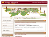 The website of the Immigration History Research Center at the University of Minnesota