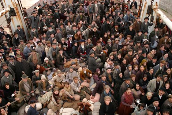 Una scena del film Nuovomondo